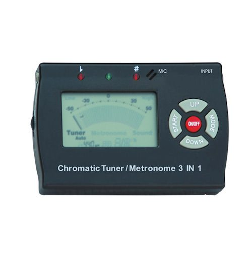 Metronome Digital, Tuner, Tone Generator, 3 in 1 (Black)
