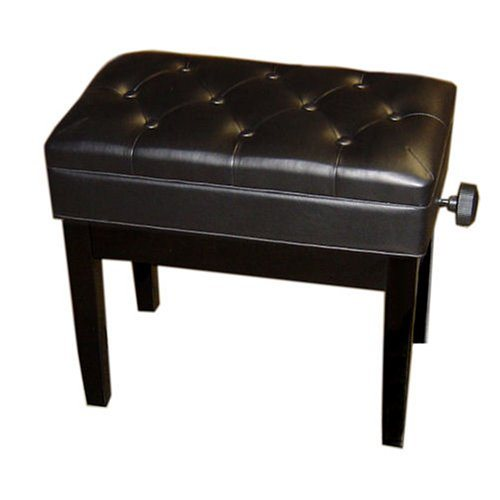 Adjustable Piano Bench, Deluxe (Polished Black)