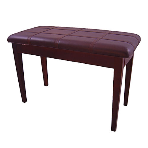 Piano Bench With Storage, Padded Top (Mahogany)